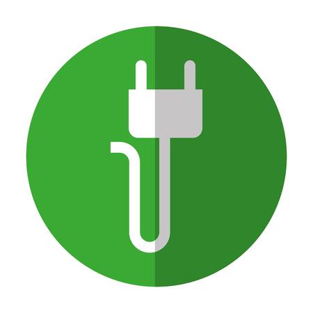 cable telefono: energy plug isolated icon vector illustration design