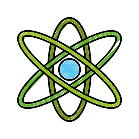medical technology: atom molecule isolated icon vector illustration design Illustration