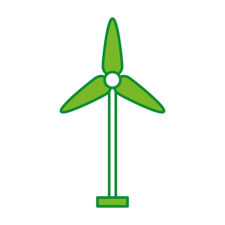 turbine wind energy icon vector illustration design