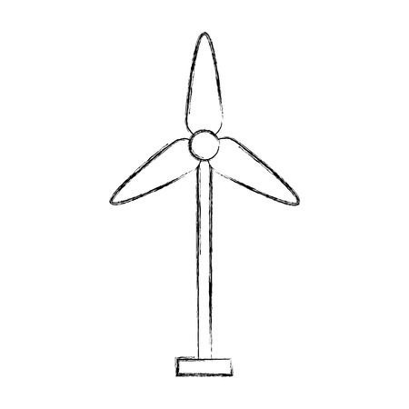 turbine wind energy icon vector illustration design