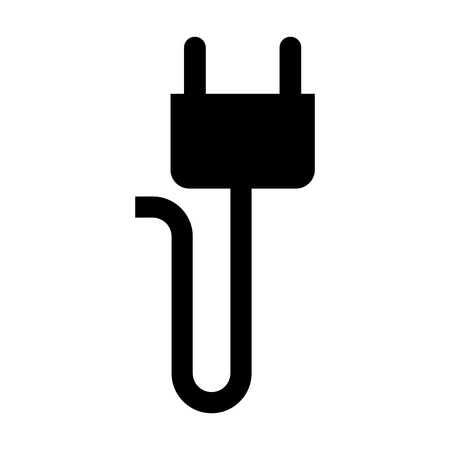 power cables: energy plug isolated icon vector illustration design