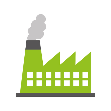 factory industry chimney icon vector illustration design Illusztráció