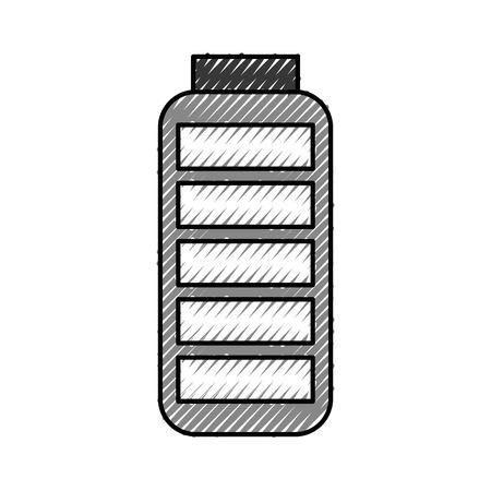 Suministro de batería icono aislado diseño de ilustración vectorial Foto de archivo - 78651132