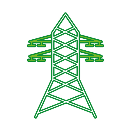 electric tower isolated icon vector illustration design