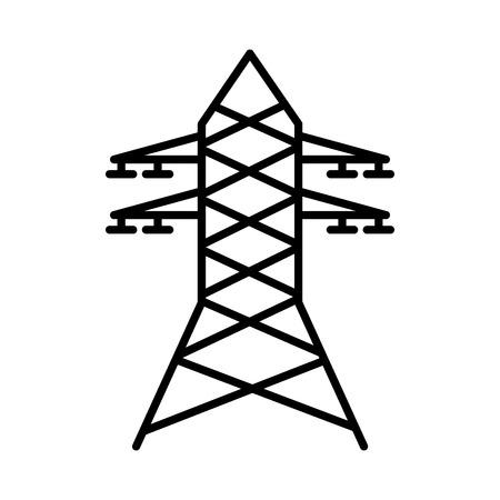 torre eléctrica aislada icono de ilustración vectorial de diseño