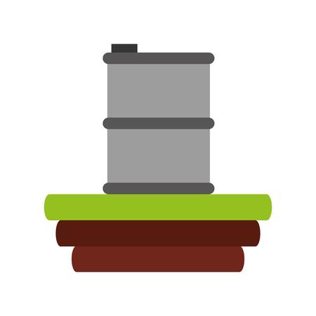 metalic tank isolated icon vector illustration design