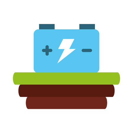 car battery isolated icon vector illustration design