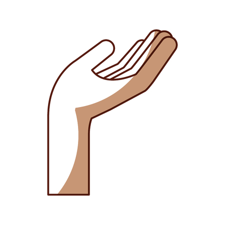 hand human asking icon vector illustration design
