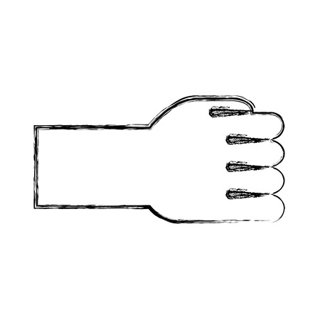 hand human fist icon vector illustration design Banco de Imagens - 78632082