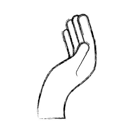 Mano umana che chiede illustrazione vettoriale icona disegno