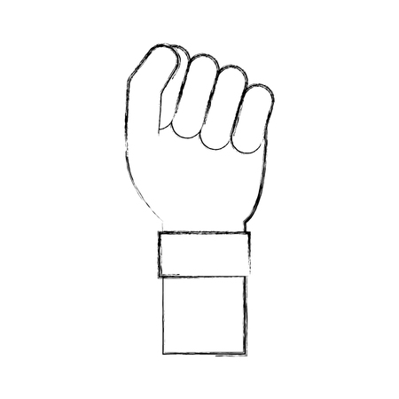 hand human fist icon vector illustration design Banco de Imagens - 78651174