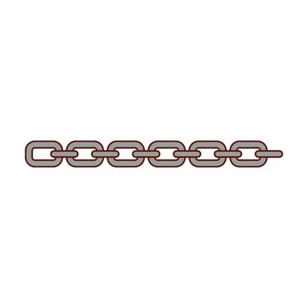 chain metalic isolated icon vector illustration design