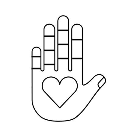 心臓ベクトル イラスト デザインと人間の手 写真素材 - 78647130