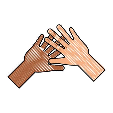 helping hands human icon vector illustration design