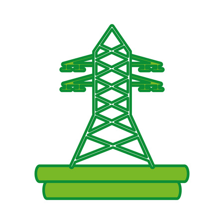 high voltage: electric tower isolated icon vector illustration design