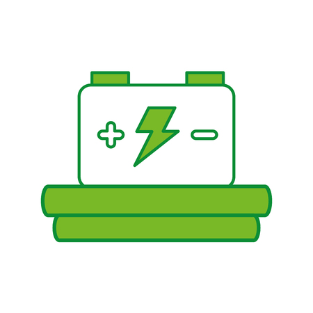 amperage: car battery isolated icon vector illustration design