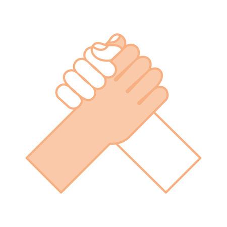 손 흔들어 격리 된 아이콘 벡터 일러스트 레이 션 디자인