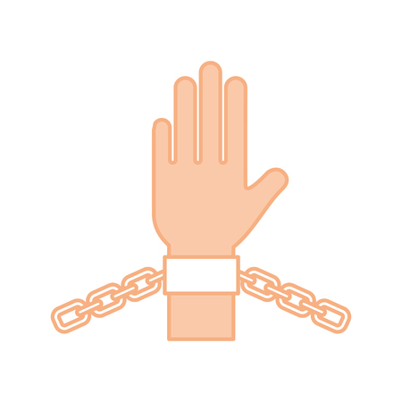 hand human with chains vector illustration design Reklamní fotografie - 78647159
