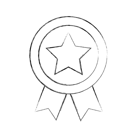 surface: american medal with star vector illustration design
