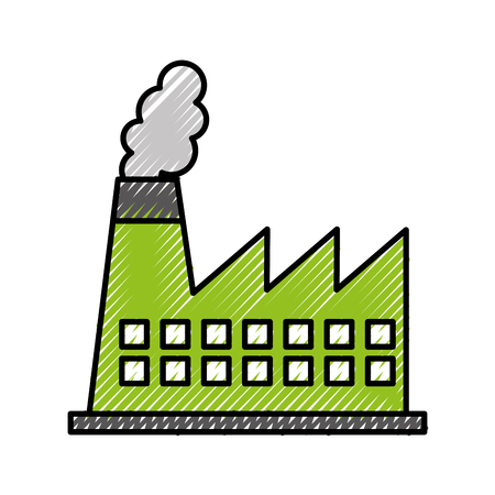 factory industry chimney icon vector illustration design Illustration