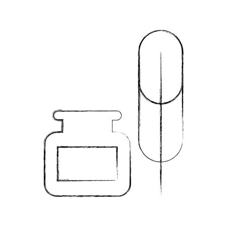 Feder mit Tinte Symbol Vektor-Illustration Design Standard-Bild - 78647540