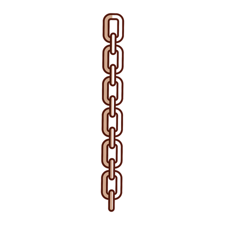 chain metalic isolated icon vector illustration design