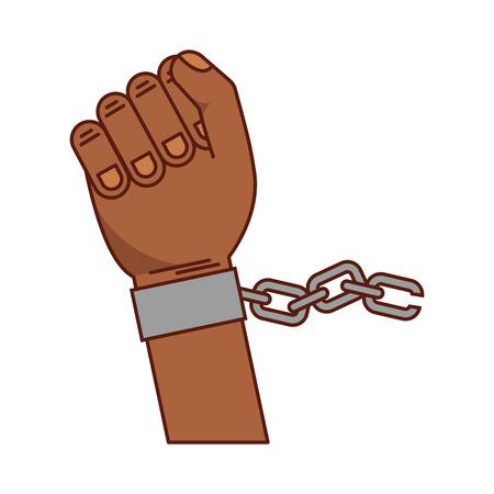 Hand mens met kettingen vector illustratie ontwerp