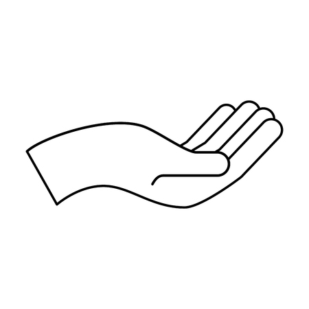 hand human asking icon vector illustration design