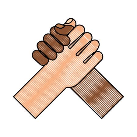 hand shake isolated icon vector illustration design Ilustrace