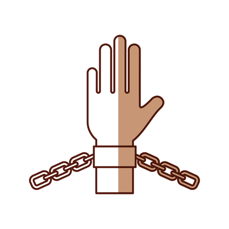hand human with chains vector illustration design Imagens - 78648612