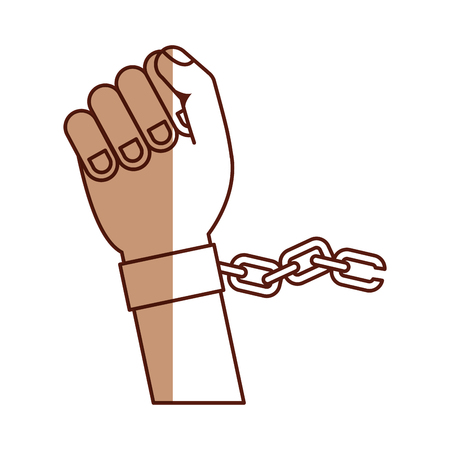 hand human with chains vector illustration design Ilustração