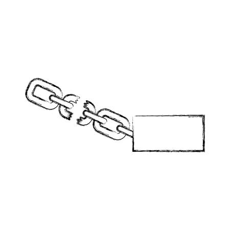 slave chain metalic isolated icon vector illustration design