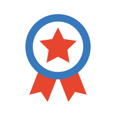 american medal with star vector illustration design