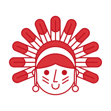 native American character icon vector illustration design