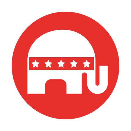 usa elephant symbol icon vector illustration design
