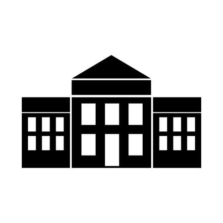 white house isolated icon vector illustration design Illustration