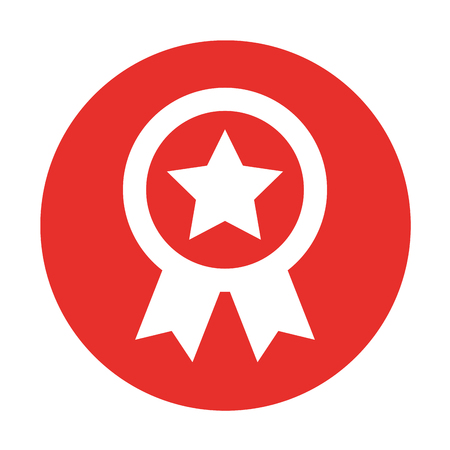 flagged: american medal with star vector illustration design