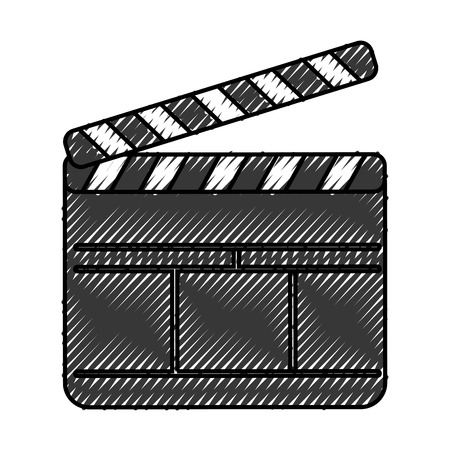 clapperboard film isolated icon vector illustration design Stok Fotoğraf - 78659193