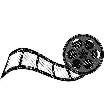 tape reel film icon vector illustration design