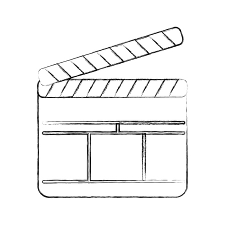 clapperboard film isolated icon vector illustration design