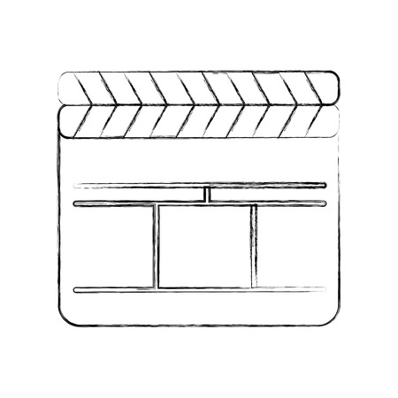 Film de clapperboard isolé icône de dessin vectoriel Banque d'images - 78659222