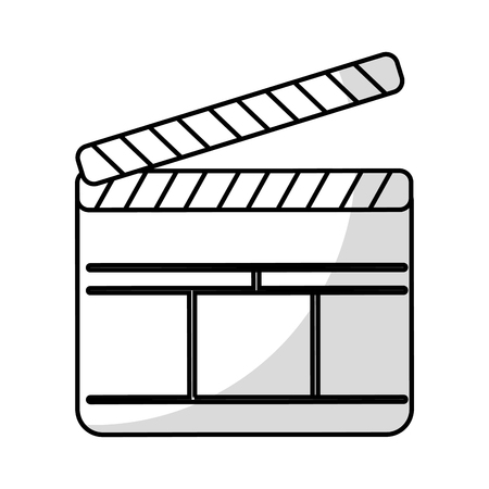 movie theater: clapperboard film isolated icon vector illustration design