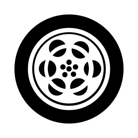 テープ リール フィルム アイコン ベクトル イラスト デザイン  イラスト・ベクター素材