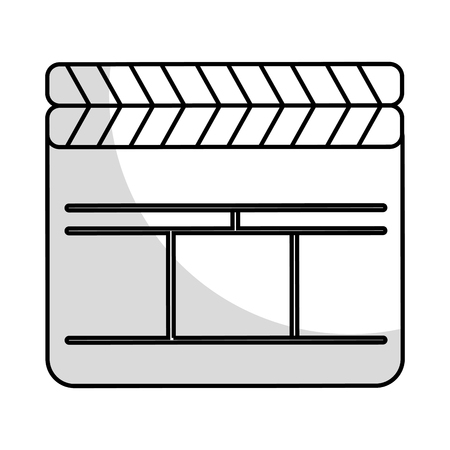 clapperboard film isolated icon vector illustration design Stok Fotoğraf - 78659252