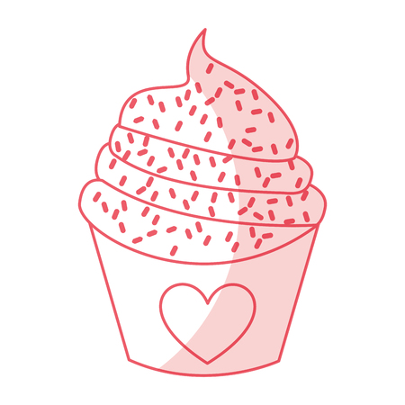 sweet and delicious cupcake isolated icon vector illustration design Stock Vector - 78659323