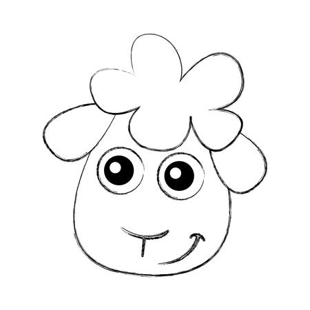 Cute ovejas dibujo carácter ilustración vectorial diseño Foto de archivo - 78659333