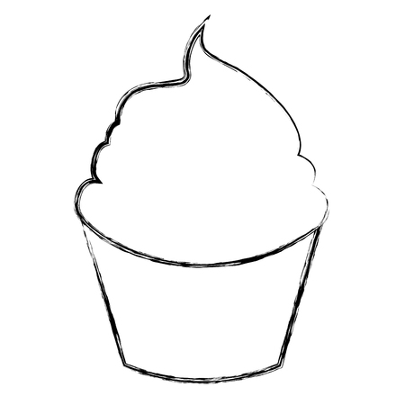 cupcake illustration: sweet and delicious cupcake isolated icon vector illustration design