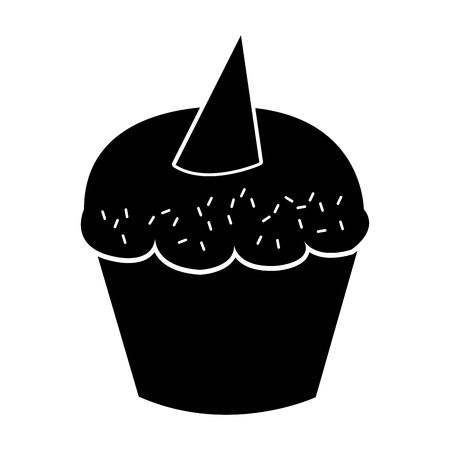sweet and delicious cupcake isolated icon vector illustration design Stock Vector - 78659350