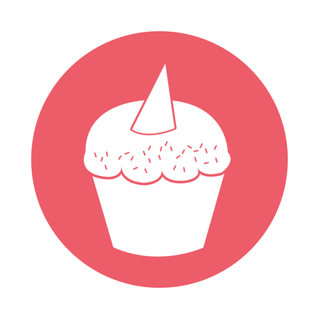 sweet and delicious cupcake isolated icon vector illustration design Stock Vector - 78659365