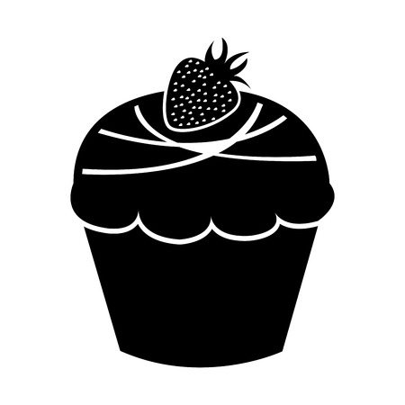 sweet and delicious cupcake isolated icon vector illustration design Stock Vector - 78659368